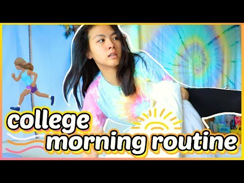 what a REAL college morning routine looks like... 2018 ☀️Katie Tracy