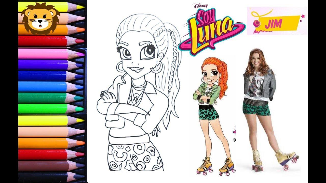 Como Dibujar Jim Soy Luna Disney Draw And Coloring Book For Kids