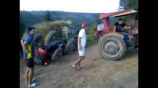 Prevrtanje traktora