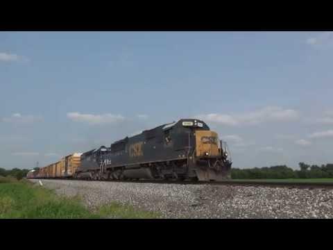 CSX 8566 & HLCX 8148 Westbound at Vandalia, Illinois 07/04/2015