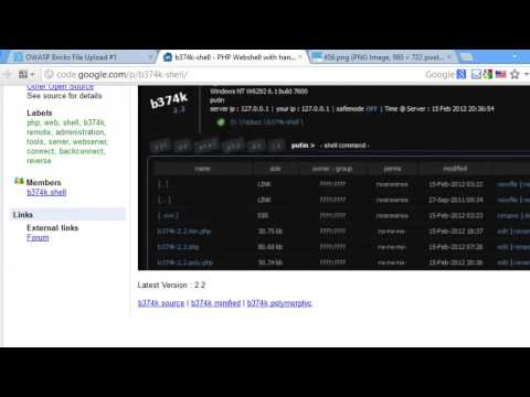 Arbitrary File Upload | OWASP Bricks File upload page #1