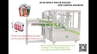 spout pouch filling and cap sealing machine for tire seal liquid  bead filler and sealer