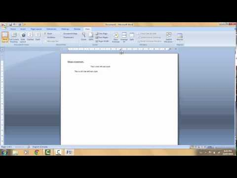 How To Set Tabs And Margins Using The Ruler Bar In Word