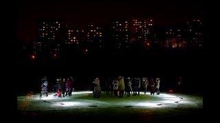 Озеро в парке Минного городка подсветили из-подо льда