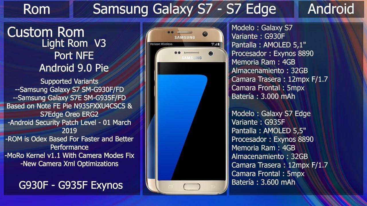 Rom Light Rom Port NFE V3- Android 9 0 - Samsung Galaxy S7/S7Edge