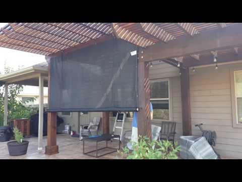 DIY outdoor rolling shade