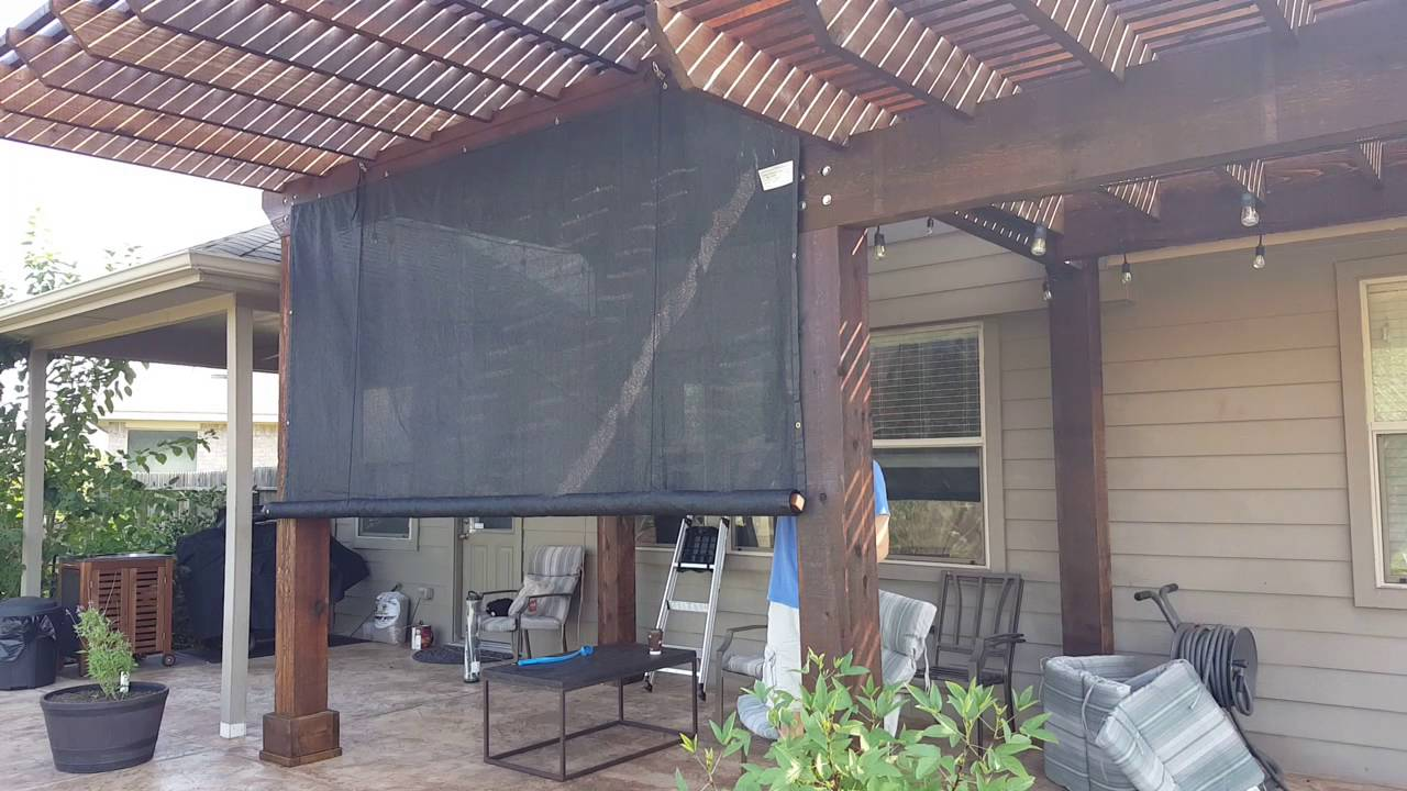 Diy Outdoor Rolling Shade Youtube