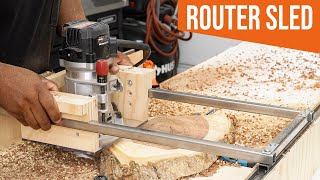 How to make aฑ adjustable Router SLED (woodworking jig)