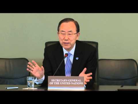 Joint Press Conference with UN Secretary General Ban Ki-moon