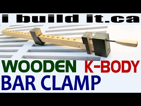How To Make A Wooden Bar Clamp (Free Plans)
