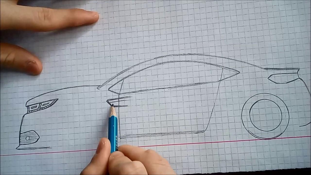 Harika Bir Araba Cizimi 001 Youtube
