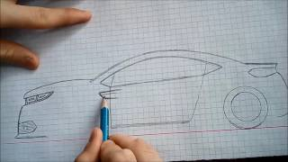 Harika Bir Araba Çizimi 001