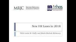 New HR Laws for 2018