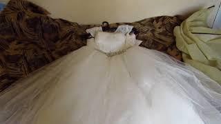 мое шикарное платье на свадьбу за 2000 рублей с алиэкспресс.в 8 раз дешевле чем в магазине.