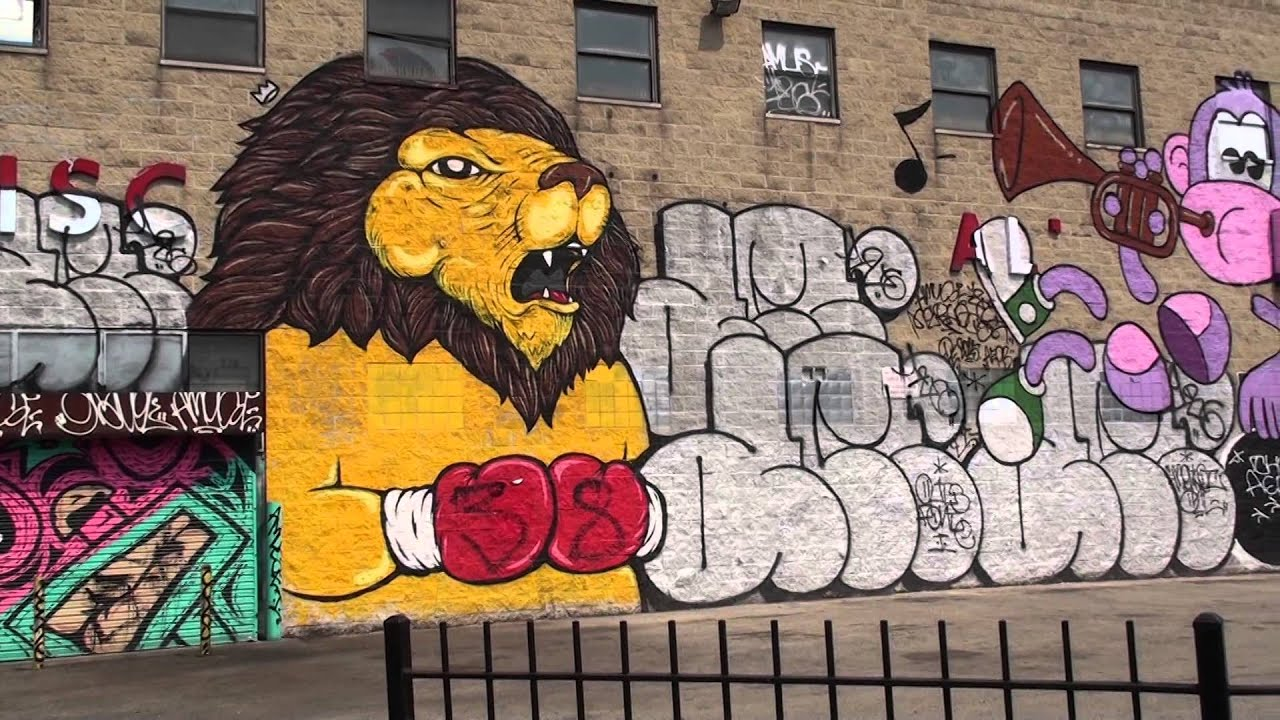 graffiti art mural logan square chicago youtube