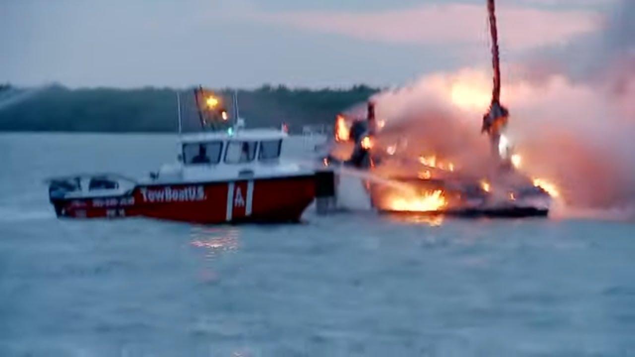 Fire on Boat Rescue! | Coast Guard Florida | Full Episode