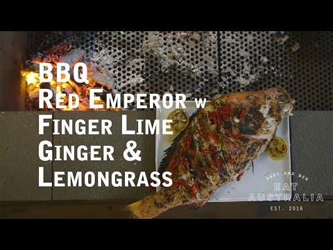 BBQ Red Emperor W' Finger Lime, Ginger & Lemongrass