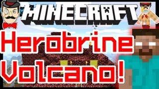 Minecraft HEROBRINE VOLCANO Battle ! Clay Soldiers #105 !