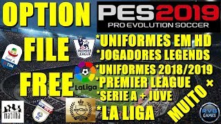 PES 2019 - OPTION FILE COMPLETO + LEGENDS TUTORIAL #PES2019