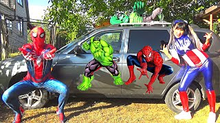 Damian becomes a SUPERHEROES in Kids car story