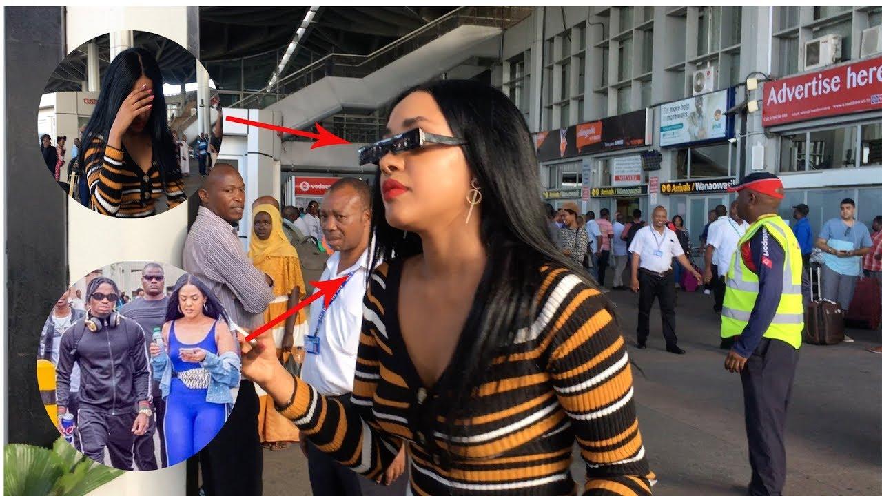 FULL VIDEO: TANASHA WA DIAMOND AGEUKA KIVUTIA AIRPORT DAR.