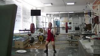 Кожевин Никита, 10 лет, вк 46 На грудь в п п + присед  15 кг Новичок