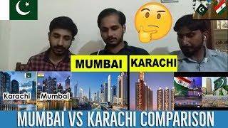 #MUMBAI #KARACHI  Pakistani Reaction On Mumbai vs Karachi Full city comparison   Mumbai vs Karachi  