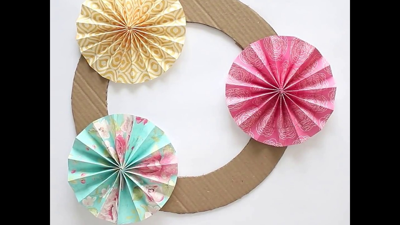 Diy Papercraft Accordion Fold Paper Flowers Youtube