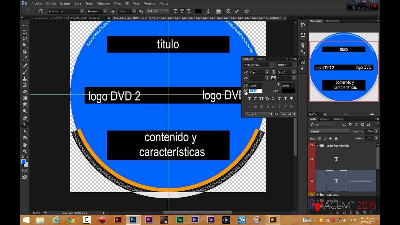 Texto en los bordes - Etiquetas Discos + Plantilla (PSD) - YouTube