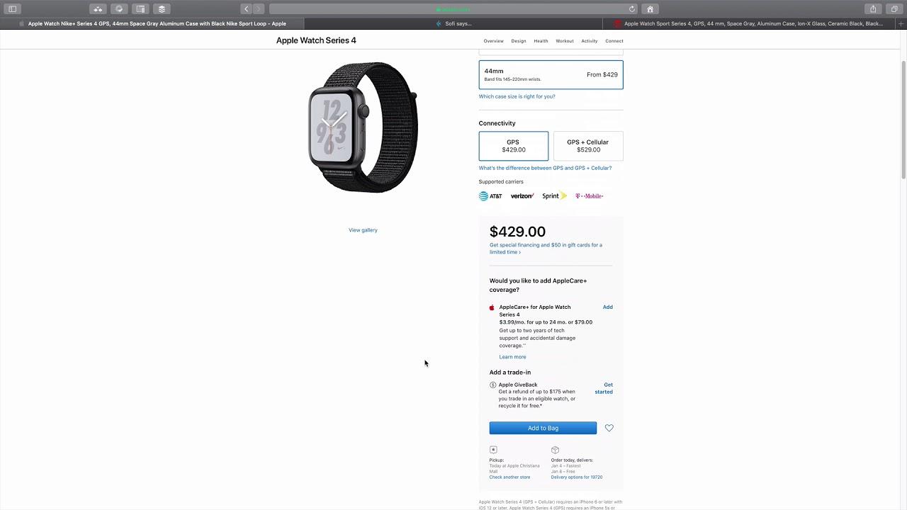 e47a8b5aac8f8 طريقة طلب ساعة آبل من أمريكا - Apple Watch Series 4 - YouTube