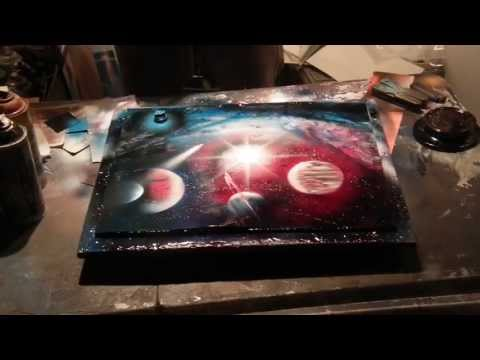 Space spray painting