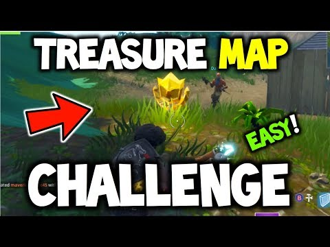 FORTNITE - Follow the treasure Map found in Dusty Depot! - EASY GUIDE! - CHALLENGE (Battle Royale)