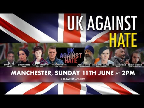 UK Against Hate: March Against Islamic Hate in Manchester