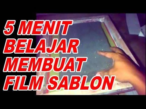 MEMBUAT FILM SABLON KAOS DARI HVS