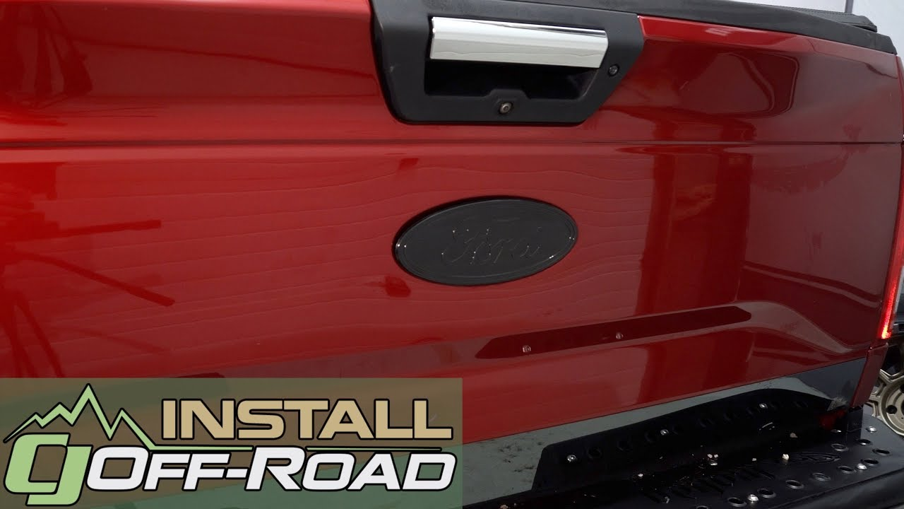 1 Set F150 XLT Emblems Fender Sticker Rear Tailgate Badge Nameplate Fit For 2015~2017 F150 Black-red