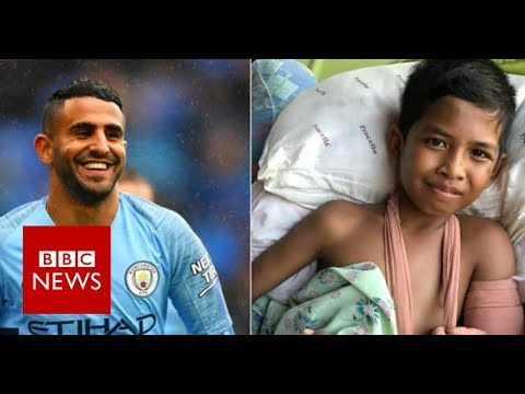 Man City star's message to injured Indonesia boy - BBC News