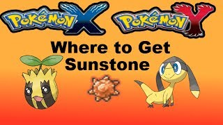 Pokemon X And Y Where/HOW To Get Sun Stone