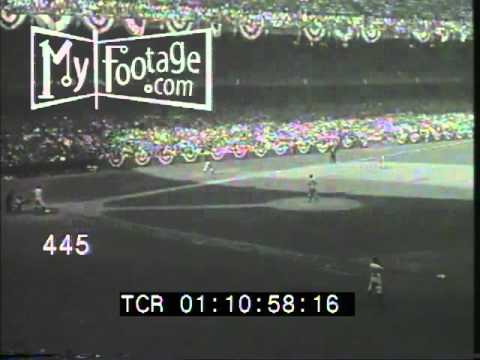 Stock Footage - 1941 World Series: Game 1 Highlights - Yankees vs. Dodgers