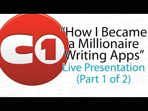 """How I Became a Millionaire Writing Apps"" (Part 1 of 2)"
