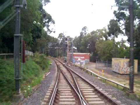 Drivers View From 901M X'Trapolis - Upper Ferntree Gully To Belgrave...