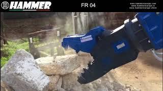 Hammer FR 04, 480 kg crusher, in action