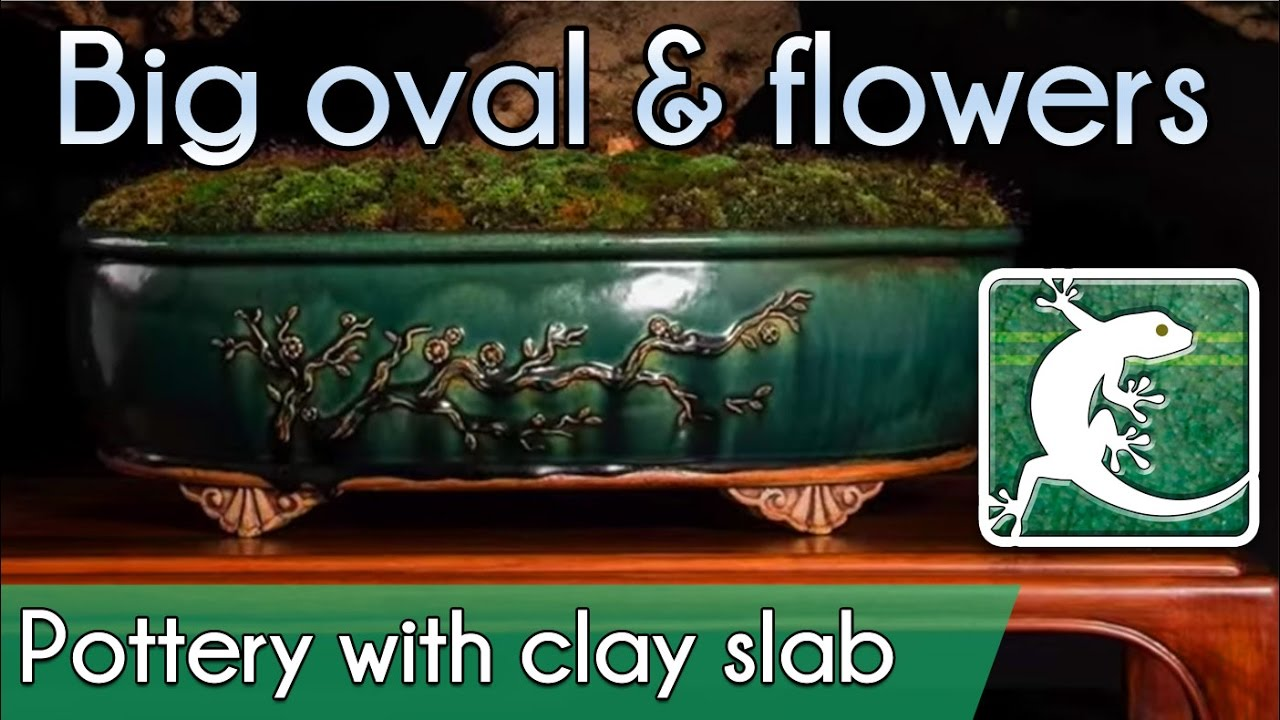 How To Make A Big Oval Bonsai Pot With Clay Slab Youtube
