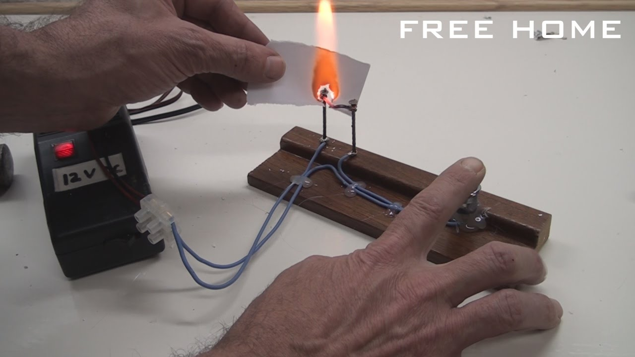 Homemade electric fire lighter. Electric burner easy to do. - Free ...