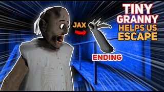 Tiny Granny HELPS US ESCAPE!!! (Jax Comes Back) | Granny The Mobile Horror Game (Messing Around)