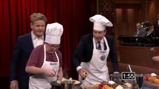 (12/10/2016) Tonight Show MasterChef Junior Cook Off with Gordon Ramsay