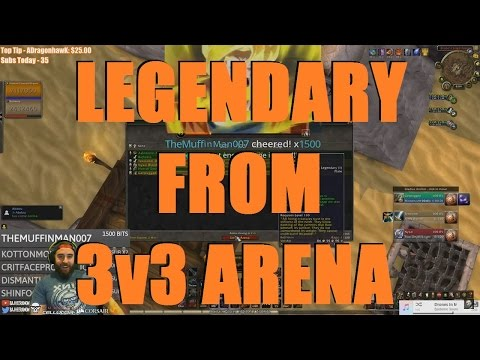 Bajheera - EPIC 2ND LEGENDARY DROP ON ALLY! :D - WoW 7.1 Arms Warrior PvP