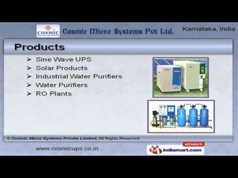 UPS System, Water Purifiers & Water Softeners by Cosmic Micro Systems Private Limited, Bengaluru