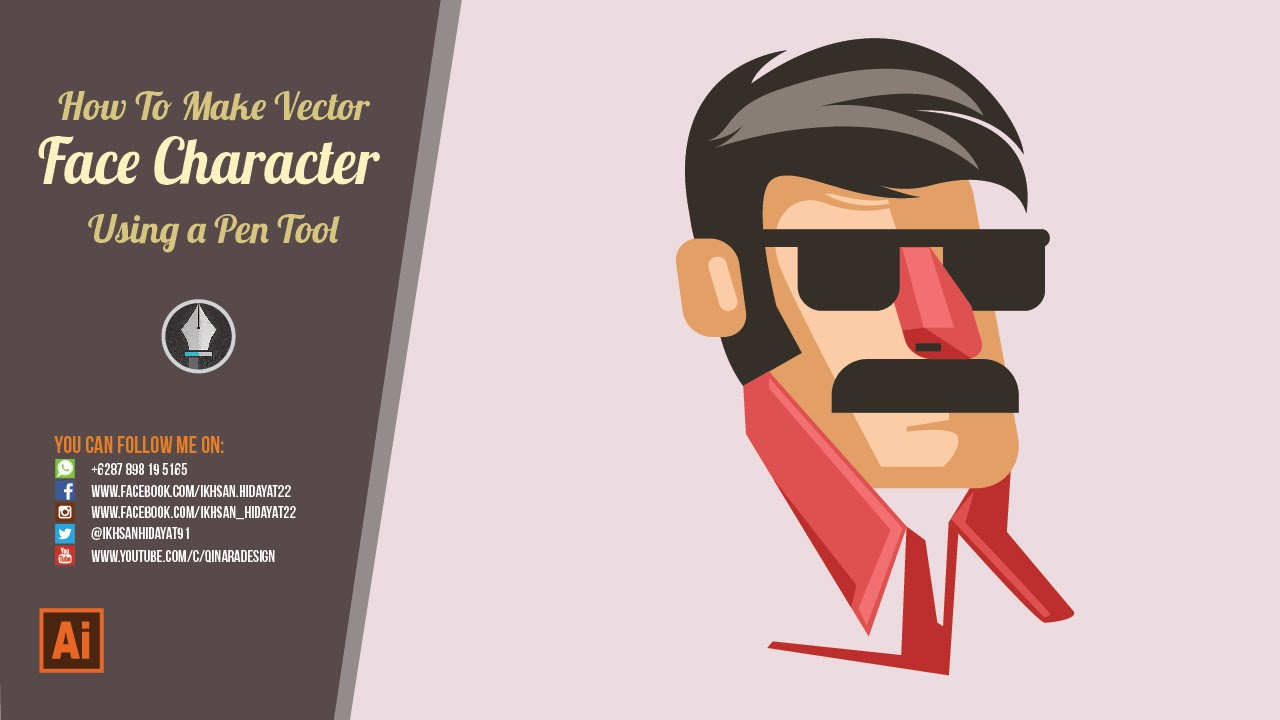 How To Make Character Face  Illustrator Tutorial