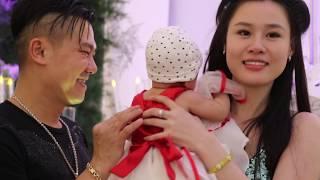 Vân Quang Long dắt vợ đẹp, con xinh 3 tháng tuổi đi dự đám cưới Ưng Hoàng Phúc