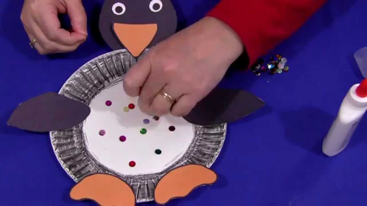 Paper Plate Penguin & Paper Plate Penguin - YouTube